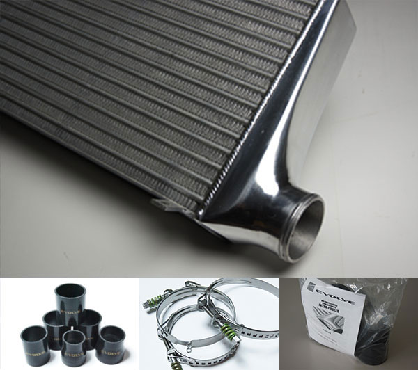 HPI インタークーラーキット spec.R 72mm厚 黒/スプリングクランプ シルビア S14 S15 SR20DET