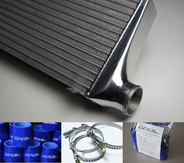 [HPI] インタークーラー TYPE-WF 72mm厚 ブルー/スプリングクランプ ランサーエボリューション9 CT9A 4G63