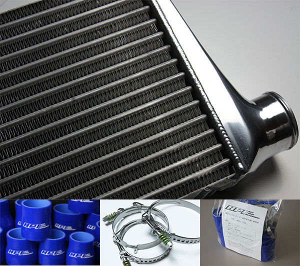 HPI インタークーラーキット spec.S 72mm厚 青/スプリングクランプ ランサーエボリューション4/5/6 CN9A CP9A 4G63