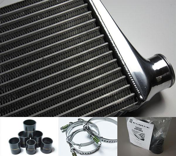 HPI インタークーラーキット spec.S 72mm厚 黒/スプリングクランプ ランサーエボリューション8 CT9A 4G63
