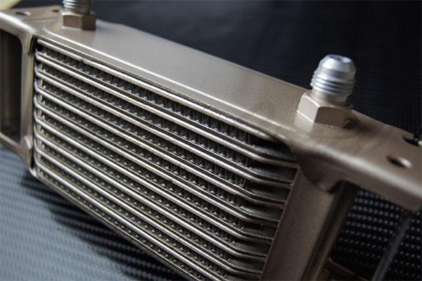 HPI ドロンカップ式 オイルクーラーコア単体 10段 L300×H140×W50