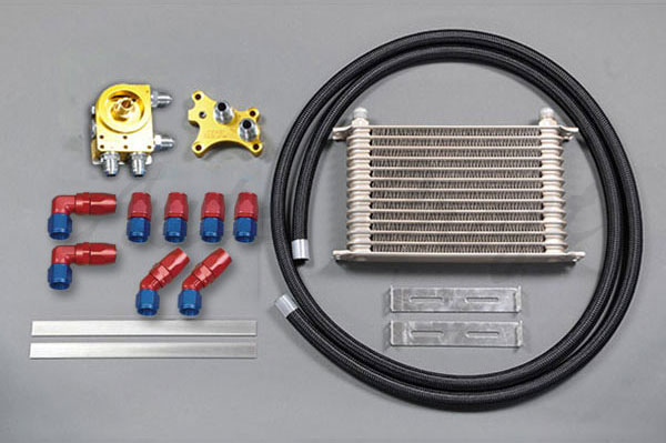 HPI ドロンカップ式 汎用オイルクーラーキット SR20オイルエレメント移動タイプ 反転タイプ 16段