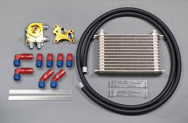 [HPI] ドロンカップ式 汎用オイルクーラーキット SR20オイルエレメント移動タイプ 10段 反転タイプ