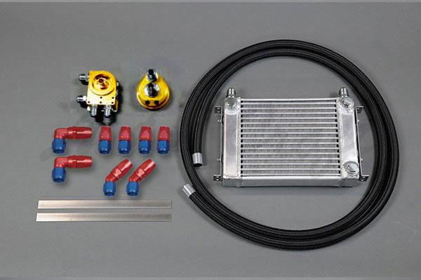 HPI サイドタンク式 汎用オイルクーラーキット オイルエレメント移動タイプ 3/4-16UNF W1