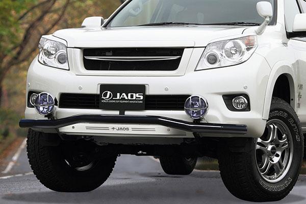 JAOS ジャオス フロントスキッドバー ブラック/ブラスト プラド 150系 09.09~13.09 ALL ※送料注意