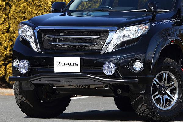 JAOS ジャオス フロントスキッドバー ブラック/ブラック プラド 150系 13.10~ ALL ※送料注意