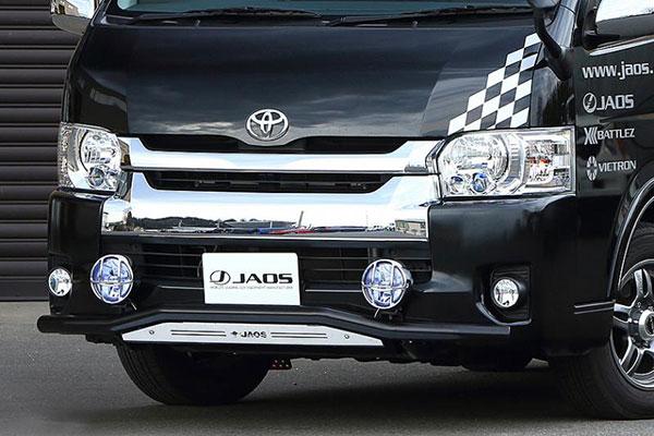 JAOS ジャオス フロントスキッドバー ブラック/ブラスト ワイド3~4型 ハイエース 200系 10.07~ ワイドボディ(3-4型) ※送料注意