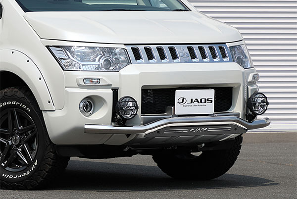 JAOS ジャオス フロントスキッドバー ポリッシュ/ブラック デリカ D:5 18.04- CV1W CV2W CV5W (19.02以降のディーゼル車除く) ※送料注意