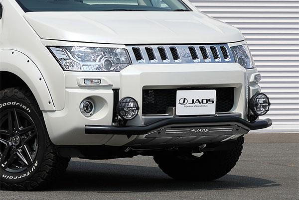 JAOS ジャオス フロントスキッドバー ブラック/ブラック デリカ D:5 18.04- CV1W CV2W CV5W (19.02以降のディーゼル車除く) ※送料注意