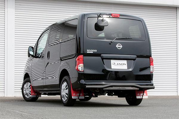 JAOS ジャオス リヤスキッドバー ブラック/ブラスト NV200バネット M20 18.01~ 4WD ※2WD(09.05~)装着未確認 ※送料注意
