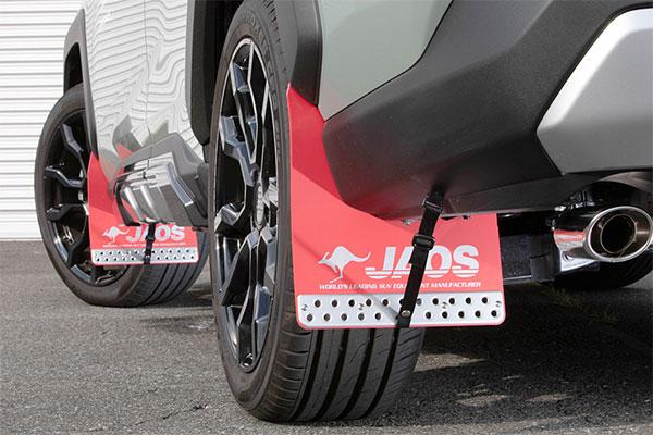 JAOS ジャオス マッドガード3 前後セット レッド (汎用Mサイズx2 & 車種別取付キット) RAV4 19.04- AXAH52 AXAH54 MXAA52 MXAA54 ※送料注意