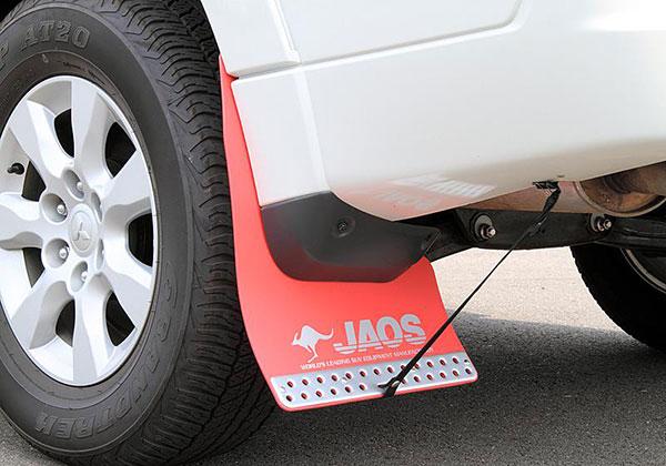 JAOS ジャオス マッドガードIII リヤセット レッド パジェロ V80/90系 06.10~ ALL ※送料注意