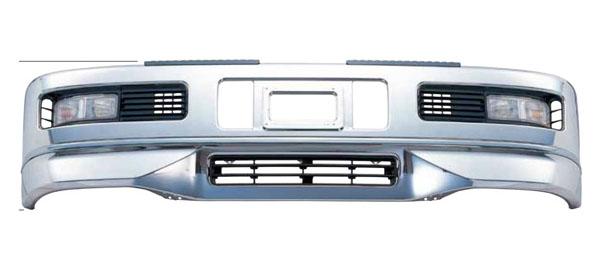 ジェットイノウエ スーパーグレートタイプバンパー 600H(大型車用)&専用取付ステーセット ふそう 超低PMスーパーグレート (H17.08 ~ H19.03)