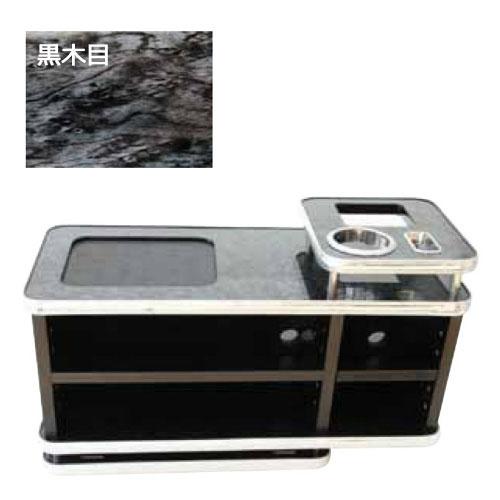 【JET INOUE】 ジェットイノウエ コンソールボックス 黒木目調 580mm×250mm×338mm