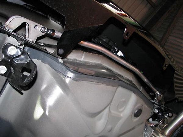 カワイ製作所 リヤモノコックバー プリウスα ZVW40 ZVW41 リヤバンパー内
