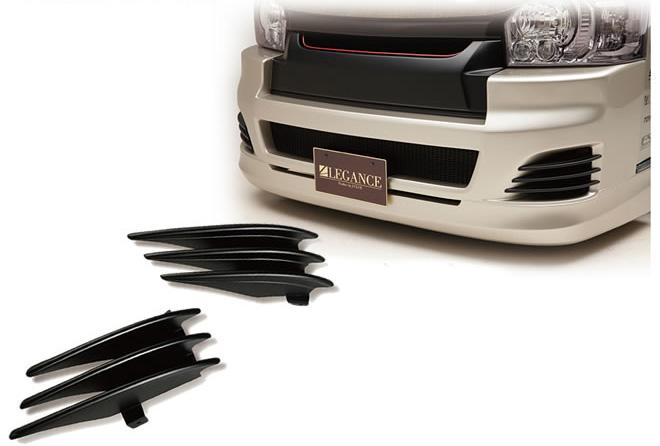 レガンス LEGANCE ハイエース 200系 ワイド・ナロー(標準) 4型LEGANCEフルバンパー専用品 ユーロバンパースリット エアロパーツ