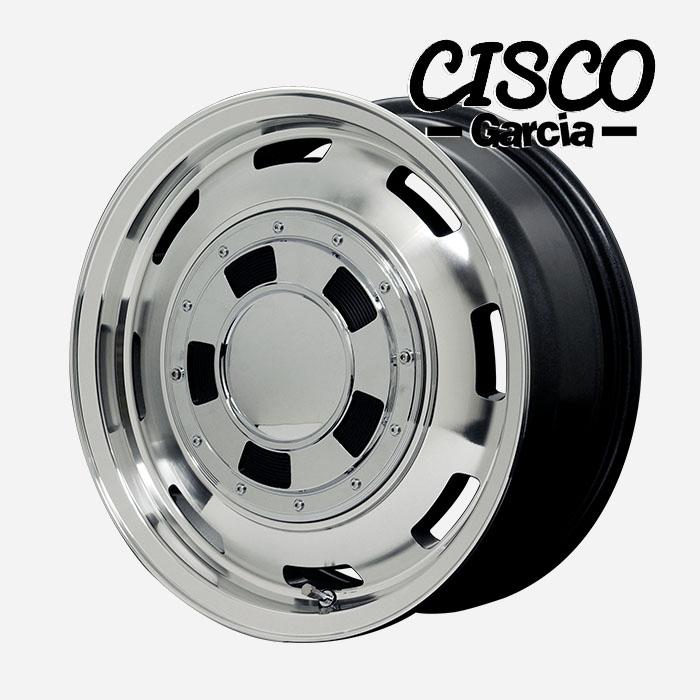 Garcia CISCO シスコ (メタリックグレーポリッシュ) 15×4.5J 4H PCD100 +45 4本購入で送料無料