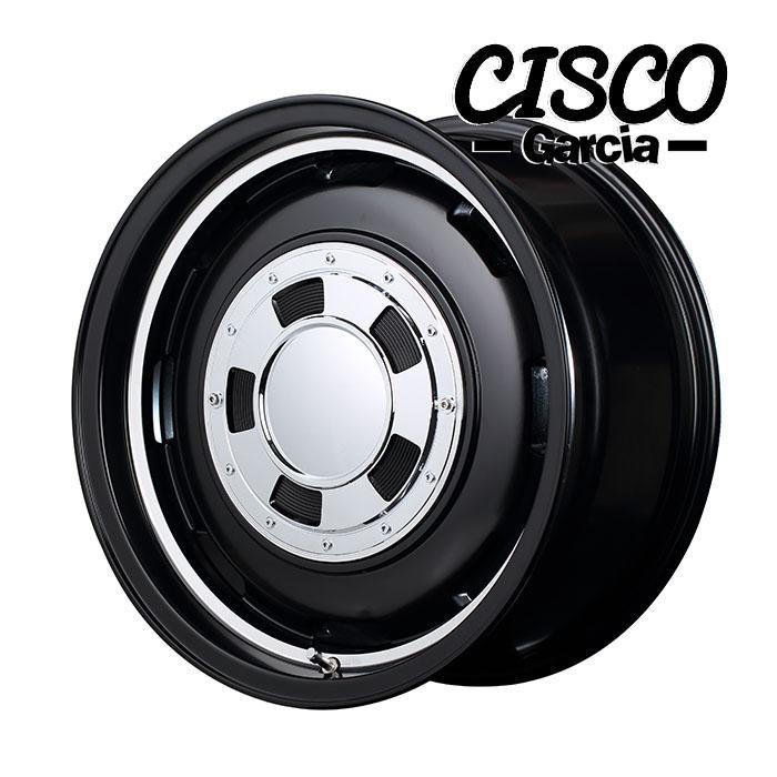 Garcia CISCO シスコ (セミグロスブラックリムヴァーレイポリッシュ) 16×6.5J 6H PCD139.7 +38 4本購入で送料無料
