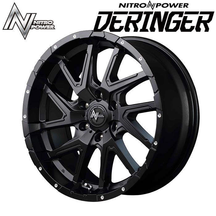 NITROPOWER DERINGER デリンジャー (セミグラスブラック) 17×6.5J 6H PCD139.7 +48 4本購入で送料無料