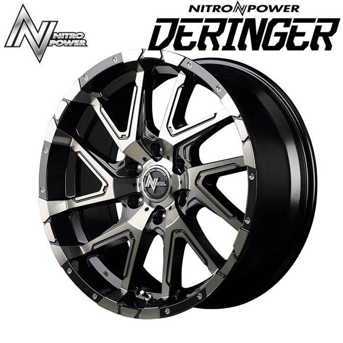 NITROPOWER DERINGER デリンジャー (ブラックメタリックポリッシュ) 17×8.0J 6H PCD139.7 +20 4本購入で送料無料