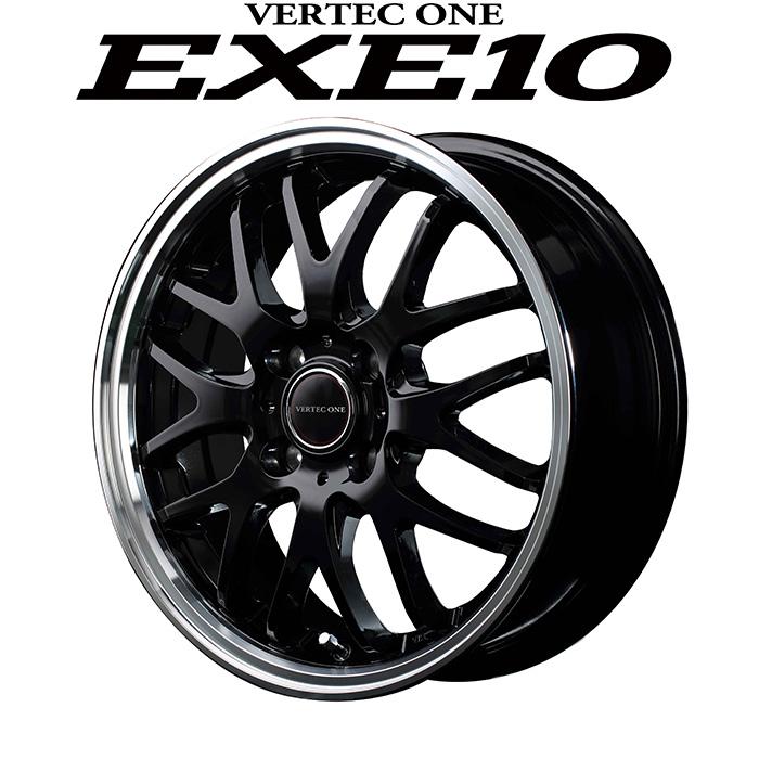 VERTEC ONE EXE10 エグゼテン (グロッシーブラック) 16×6.0J 4H PCD100 +43 4本購入で送料無料