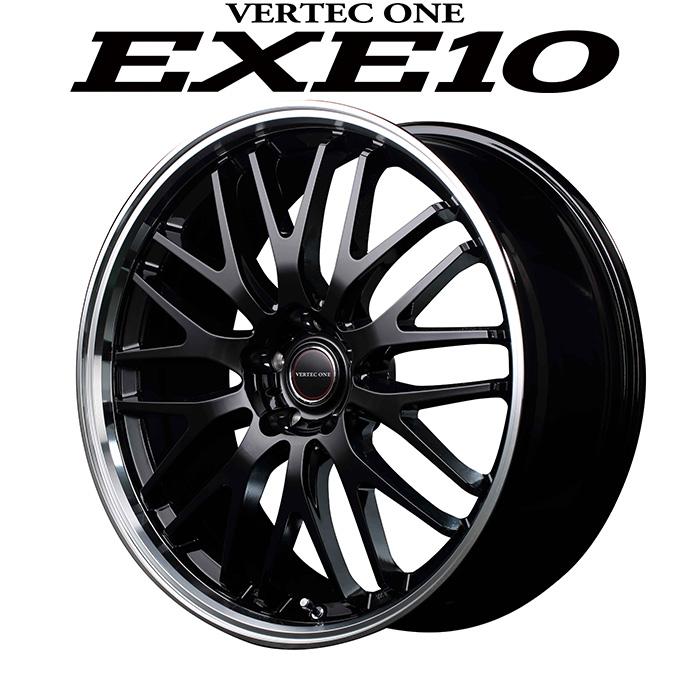 VERTEC ONE EXE10 エグゼテン (グロッシーブラック) 19×8.0J 5H PCD114.3 +42 4本購入で送料無料
