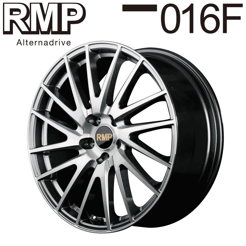 RMP ≪ 016F ブラッシュドフィニッシュ ≫ 17×7.0J 5H PCD114.3 +38 4本購入で送料無料
