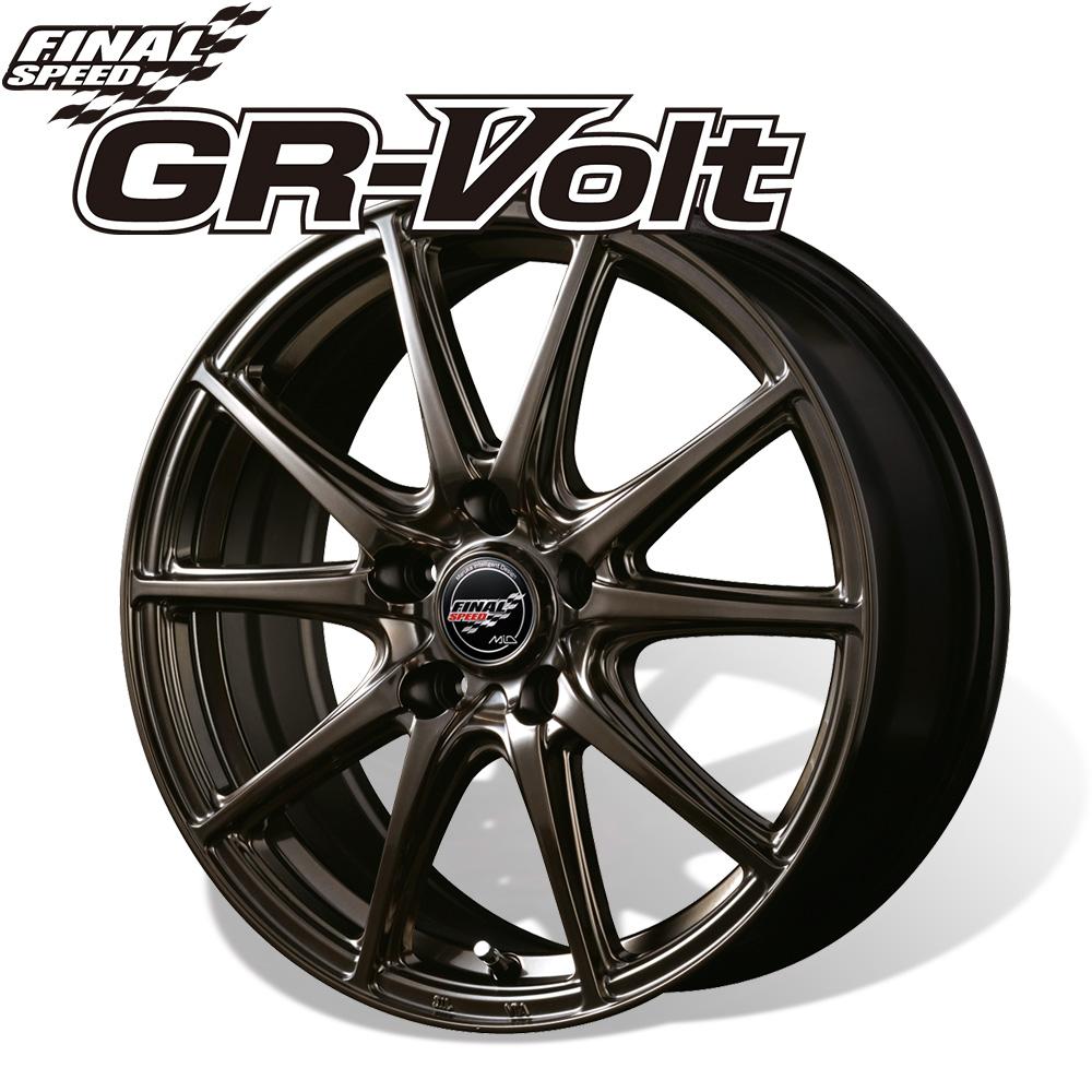 ファイナルスピード ≪ GR-Volt (ジーアールボルト) ハイメタブロンズ ≫ 18×7.0J 5H PCD114.3 +48 4本購入で送料無料
