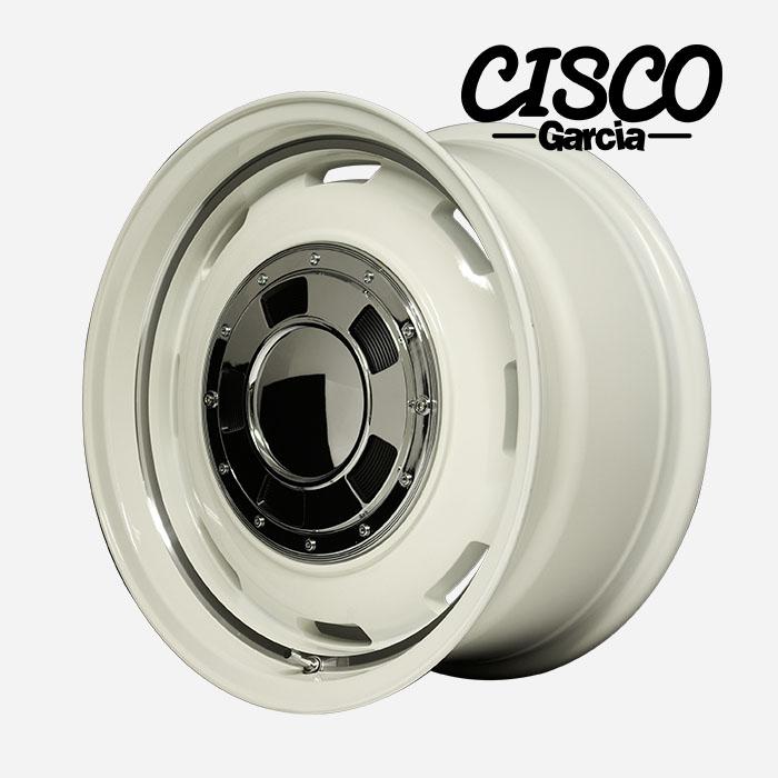 Garcia CISCO シスコ (オールドイングリッシュホワイトリムヴァーレイポリッシュ) 17×8.0J 6H PCD139.7 +20 4本購入で送料無料
