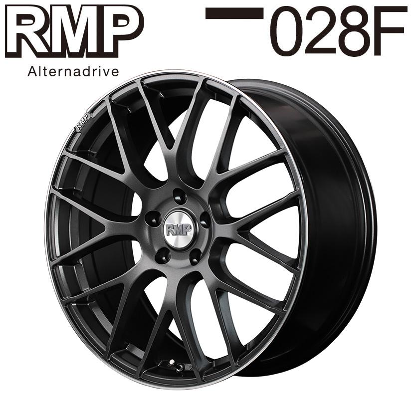 RMP 028F (セミグロスガンメタ) SUBARU WRX STI VAB 2014/8~2017/6 19×8.0J 5H PCD114.3 +42 4本購入で送料無料