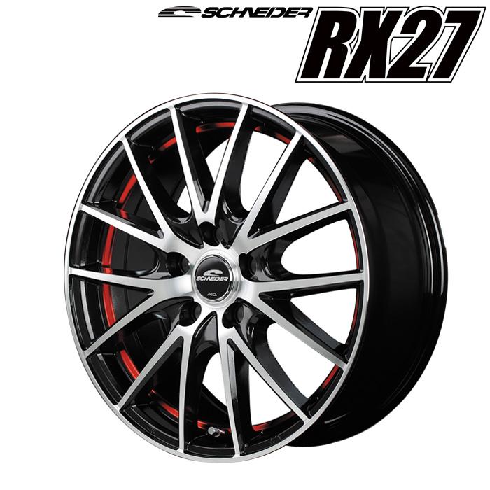 シュナイダー RX27 (レッド) 16×6.5J 5H PCD114.3 +53 4本購入で送料無料