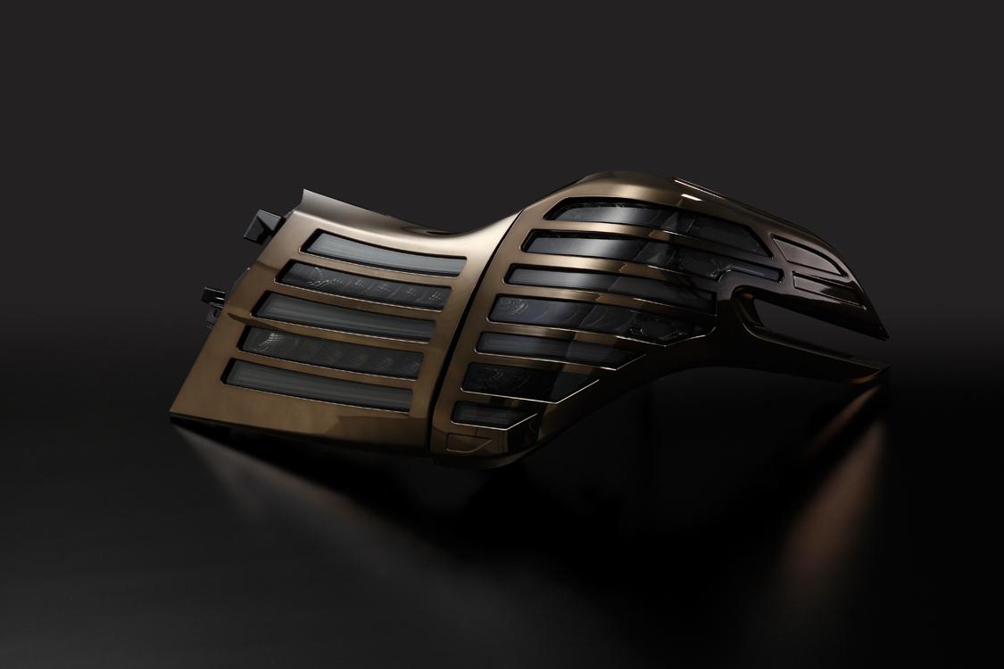 METEO メテオ LEDテールランプ スモークテール ブロンズメッキカバー TY-AL30-S-CAGC 【TOYOTA 30系 アルファード】