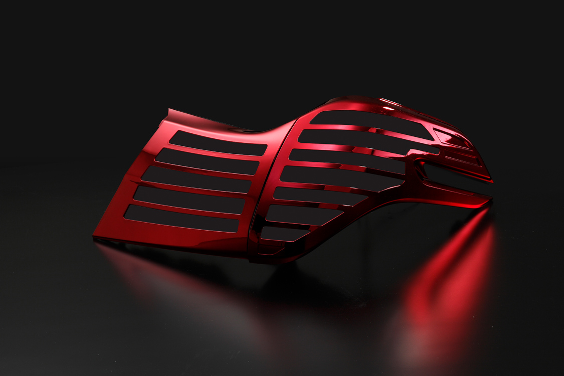 METEO メテオ LEDテールランプ専用 レッドメッキカバー TY-AL30H-RC 【TOYOTA 30系 アルファード】
