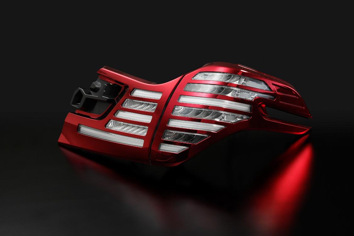 METEO メテオ LEDテールランプ クリアテール レッドメッキカバー TY-VE30-C-CARC 【TOYOTA 30系 ヴェルファイア】