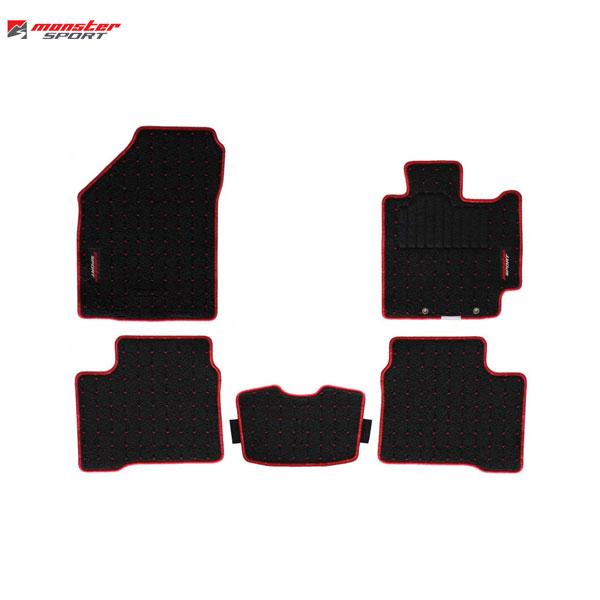 [Monster Sport] モンスタースポーツ フロアマット 1台分 【 スイフト [ZC13S / ZC43S / ZC53S / ZD53S / ZC83S / ZD83S] 2017.1~ MT/AT CVT/5AGS 】【代引不可】
