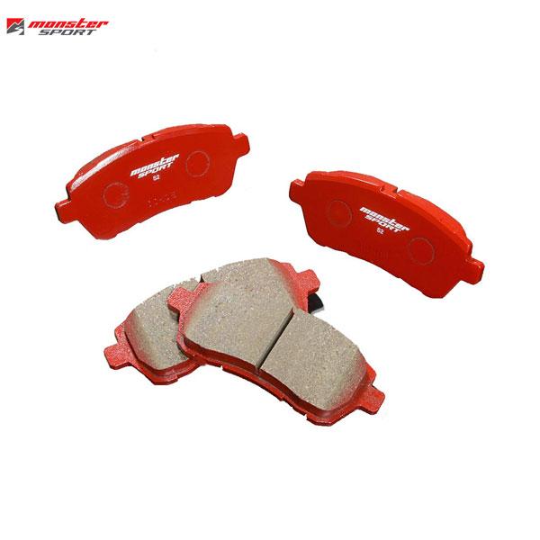 [Monster Sport] モンスタースポーツ ストリートブレーキパッドtype-S2 フロント スイフトスポーツ ZC33S 17.09~ FF