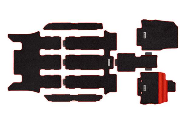 [無限] スポーツマット レッド 2列目キャプテンシート ステップワゴン RP1 RP2 RP3 RP4 15/4~