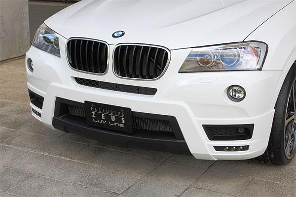 M'z SPEED フロントハーフスポイラー 未塗装品 BMW X3 DBA-WX20 LDA-WY20 DBA-WX35 12/9~14/5 Mスポーツ除く xDrive20i/20dブルーパフォーマンス/28i/35i他 ※北海道は送料8500円(税別)、沖縄・離島は要確認 ※個人宅は送料+7000円(税別)