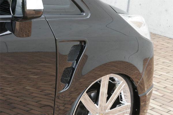M'z SPEED フェンダーダクト 未塗装品 ステップワゴン RG1 RG2 05/5~07/10 MC前 ※北海道は送料2000円(税別)、沖縄・離島は要確認