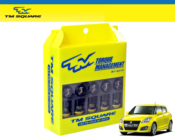 TM SQUARE スイフトスポーツ ZC32S トルクマネージメントホイールナット (ナットセット)