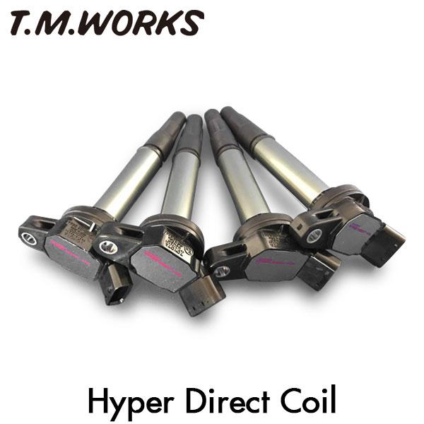 アイドリングから高回転域まで安定したスパークエネルギーを供給  T.M.WORKS ハイパーダイレクトコイル アウディ A4 CJE 11~ 1.8TFSI 1.8Lターボ