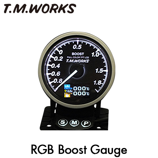 T.M.WORKS RGBブーストゲージ 2.0Kpa表示モデル BMW ミニ クーパー クロスオーバー オール4/ペースマン R60 R61 (N18) N14型エンジン車 タイプA用 AT車 ターボ車専用