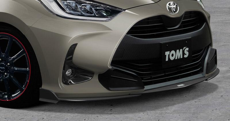 TOM'S フロントディフューザー ホワイトパールクリスタルシャイン<070> ヤリス MXPA15 2020/2~ ガソリン車(1.5L) 4WD 個人宅配送不可 沖縄・離島は送料着払い