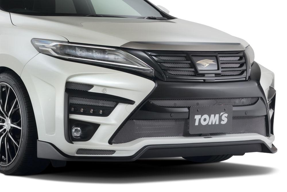 TOM'S フロントバンパー 未塗装(FRP黒ゲルコート) ハリアー ZSU60W ZSU65W 2017/6~ 3ZR-FAEエンジン搭載車 個人宅配送不可 沖縄・離島は送料着払い