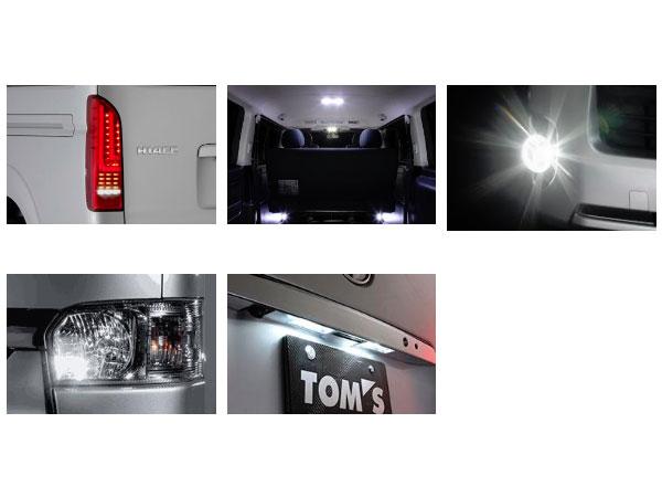 正規 TOM'S H16.8~ トムス ハイエース LEDパッケージB ハイエース KDH/TRH200系 H16.8~ TOM'S スーパーGL(標準ボディ標準ルーフ車のみ) 個人宅配送 沖縄・離島は送料着払い, web-TENSHINDO:96ffe51e --- test.dood-studio.com