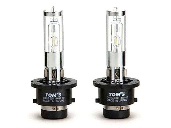 [TOM'S] トムス H.I.D.ホワイトバルブ 6000k ヴィッツ KSP90 H19.8~ 純正ディスチャージヘッドランプ装着車用