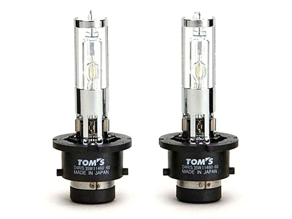 [TOM'S] トムス H.I.D.ホワイトバルブ 6000k カローラアクシオ NZE141 NZE144 ZRE142 ZRE144 H18.9~H24.4 純正ディスチャージヘッドランプ装着車用