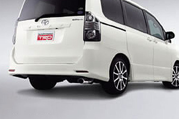 TRD ハイレスポンスマフラーVer.S サイレンサー テールパイプセット ヴォクシー ZRR75G 大注目 ZRR75W マイナーチェンジ後 上等 10 04~14 4WD全車 01