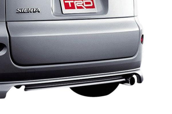 TRD ハイレスポンスマフラーVer.S シエンタ NCP81G NCP85G 03/09~15/07 ウェルキャブ車除く2WD車(NCP81G) 03.9~10.3 注)2010年4月1日以降に製作された車両には装着出来ません。