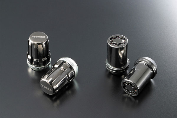 TRD セキュリティロックナットセット プリウス ZVW51 ZVW55 18/12~ 18インチアルミホイール「TRD TF9」&タイヤセット付車